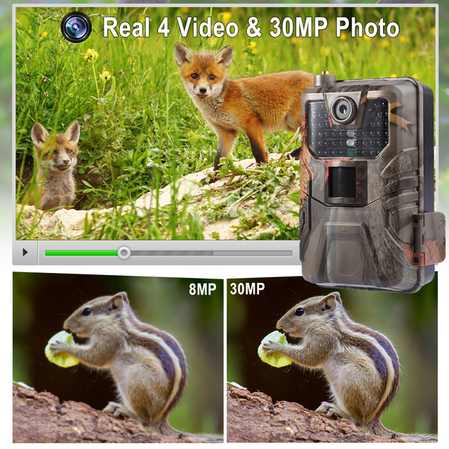 4K 30FPS Live Video Hunting Trail Camera 4G MMS 30MP Infrared Wildlife Surveillance Camera Night Vision Photo Trap Cloud Service 2