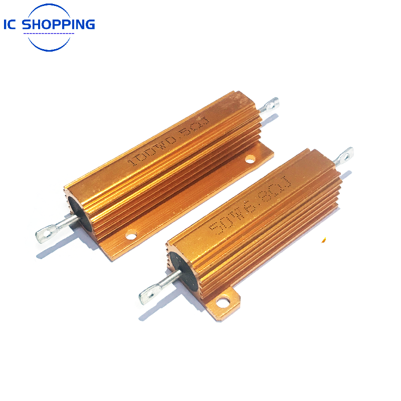 NEW Aluminum Power Metal Shell Case Wirewound Resistor 50W 100W 0.01R ~ 100K 1 3 4 6 8 10 20 200 500 1K 10K Ohm RX24 Resistance
