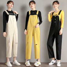 5 Color Jumpsuit Women 2019 Casual Loose Overalls For Fashion Hole Female Overall Long Pants Rompers Womens