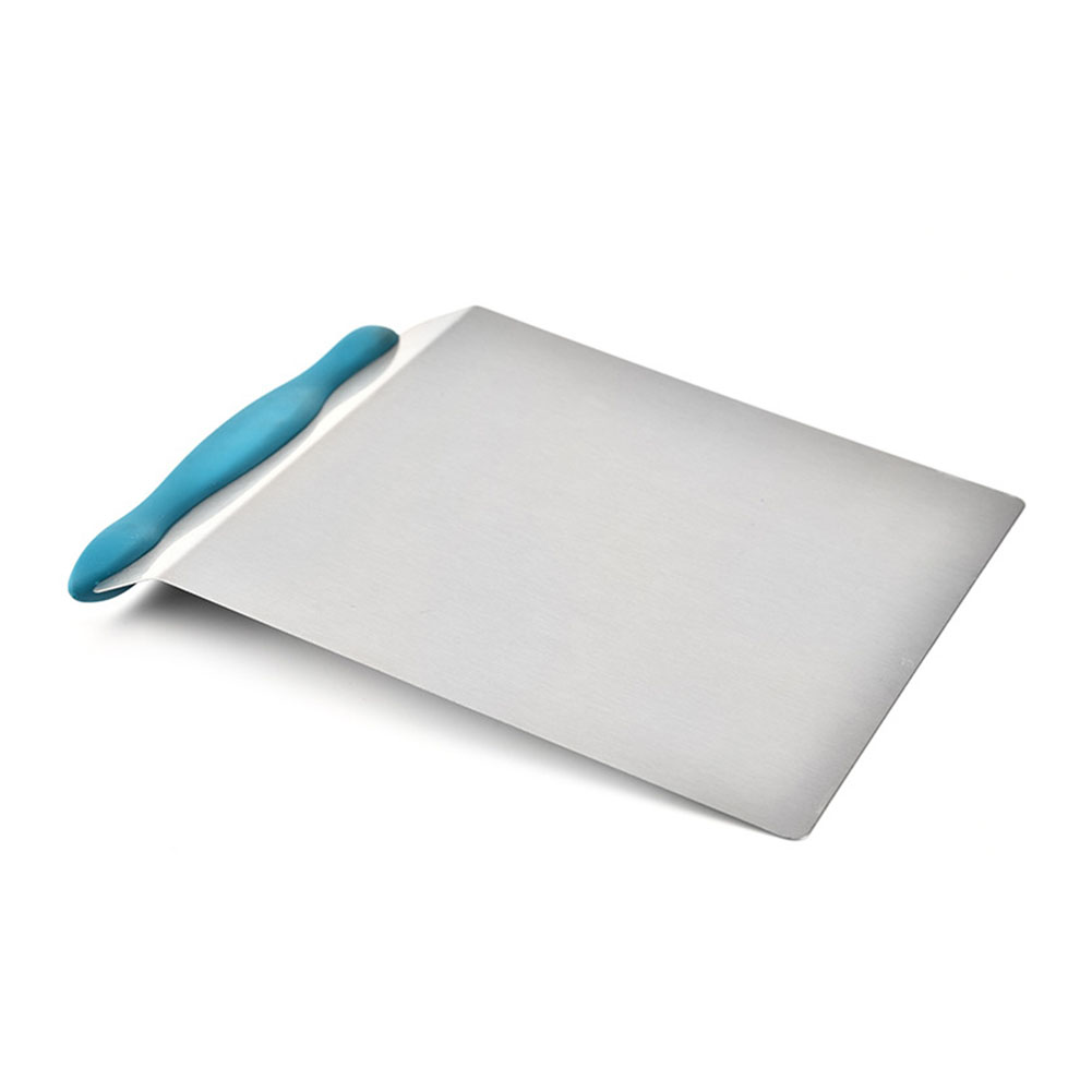 Pastry Kitchen Durable Cake Shovel Practical Dough Stainless Steel Scraper Transfer Bread Baking Tools Moving Plate Random Color