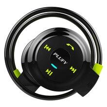 PLUFY bezprzewodowy sportowy zestaw słuchawkowy Bluetooth Radio odtwarzacz Mp3 zestaw słuchawkowy Stereo z pałąkiem na szyję obsługuje kartę pamięci