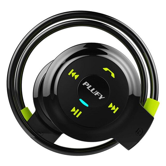 Plufy sem fio bluetooth esporte fones de ouvido rádio mp3 player neckband fone estéreo suporte cartão memória