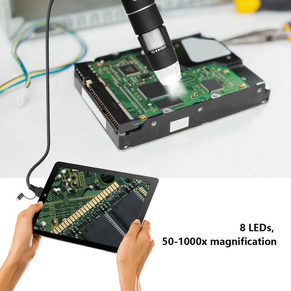 Купить с кэшбэком 3 In 1 Magnifier Multifunctional Handheld Portable Digital Microscope 30M/200M images 1000 times USB electronic without bracket