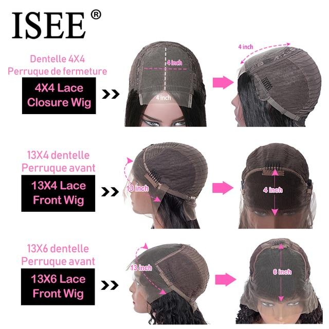 Prosta peruka z naturalnych krótkich włosów 360 koronkowa peruka z przodu prosto Bob koronkowa peruka z przodu ISEE Hair malezyjski koronkowa peruka z ludzkich włosów