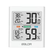 Digital LCD Display Indoor Thermometer Hygrometer Thermo-hygrometer with Smart Backlight Meter Weather Station Tester