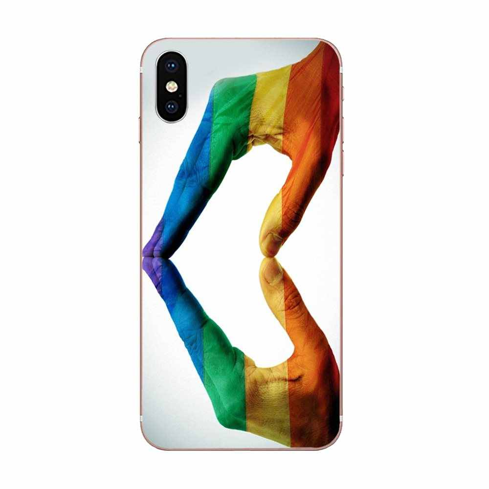 Gay Lesbian Lesbian Rainbow Pride untuk Galaxy Alpha Catatan 10 Pro A10 A20 A20E A30 A40 A50 A60 A70 A80 a90 M10 M20 M30 M40
