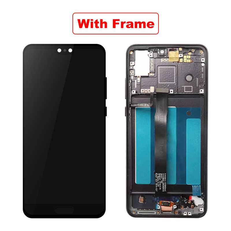 """5.8 """"Cho Huawei P20 LCD EML-L29 EML-L22 EML-L09 Màn Hình Cảm Ứng LCD Màn Hình Bộ Số Hóa Các Bộ Phận Cho Huawei P20 Màn Hình Hiển Thị"""