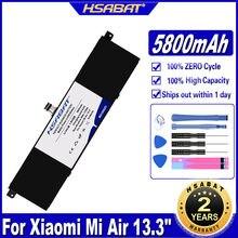 Hsabat r13b01w r13b02w 5800mah bateria do portátil para xiaomi mi ar 13.3