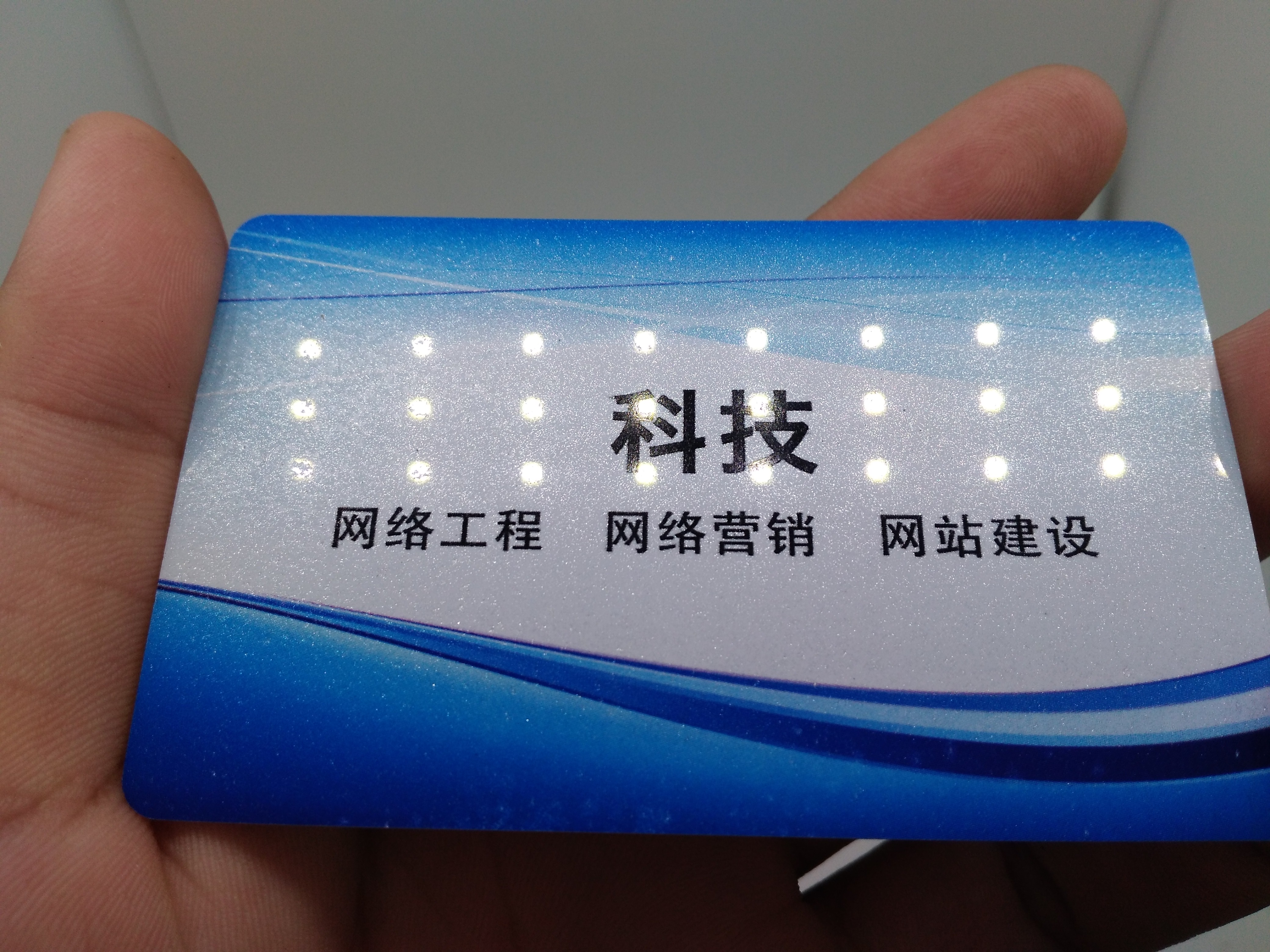 Glossy PVC Name Card Printing Custom For Full Color Printing Business Card