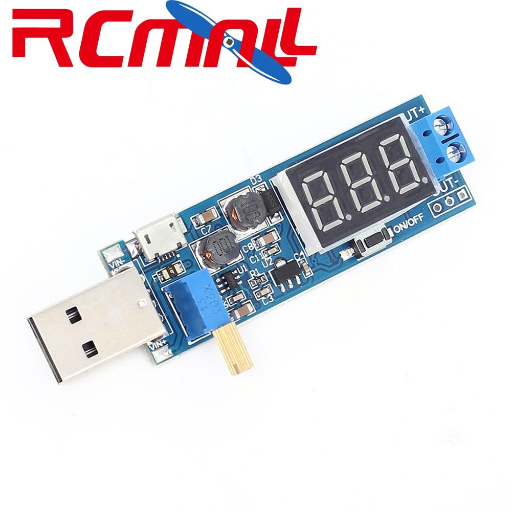 Boost Buck Converter USB Step UP/Down Power Supply Module DC-DC 5V To 3.3V / 12V Adjustable Out DC 1.2V-24V