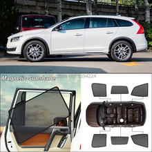 Car Side Windows Magnetic Sun Shade UV Protection Ray Blocking Mesh Visor For Volvo V60