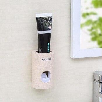 Productos de baño exprimidores de pasta de paja de trigo degradables para el hogar exprimidores automáticos de pasta de dientes reutilizables para la familia zh1