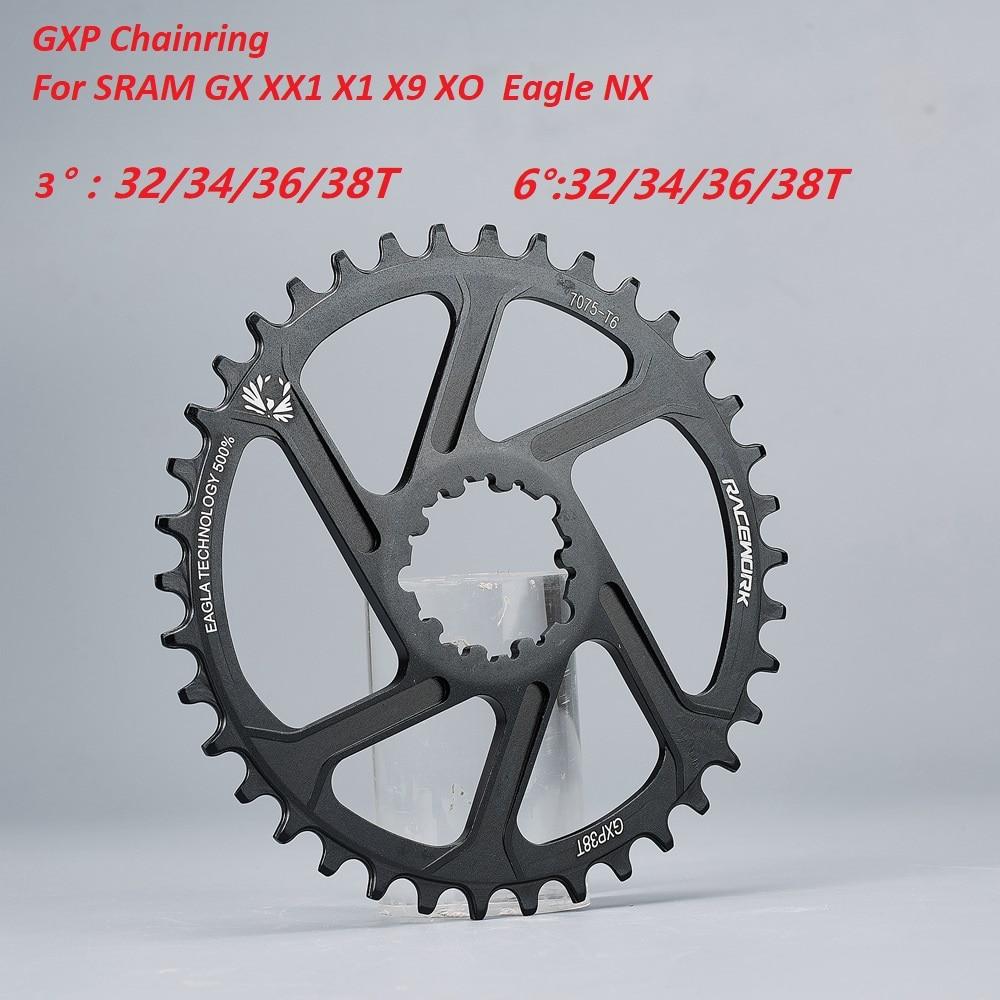 GXP 6mm 32//34//36//38T Narrow Wide Chainring MTB Bike Chainwheel Sprocket AL7075