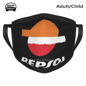 Repsol Shirt Sticker Mask Windproof Sport Soft Warm Mouth Mask Doohan Repsol Mick Gas Jeans Hrc Ngk Vintage Classic Retro image