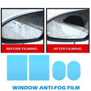 Image 4 - 2/4pcs נקה רכב Rearview מראה מגן סרטי חלון שריטה הוכחה רב תכליתי עמיד למים אנטי ערפל אטים לגשם סרטים