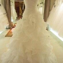 Винтажное бальное платье, свадебные платья, милая органза, без рукавов, со шлейфом, с оборками, на шнуровке, свадебные платья