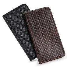 360 mıknatıs doğal hakiki deri cilt kapak cüzdan kitap telefon kılıfı için iphone 7 8 artı 8 artı X XR XS 11 12 mini Pro MAX R S