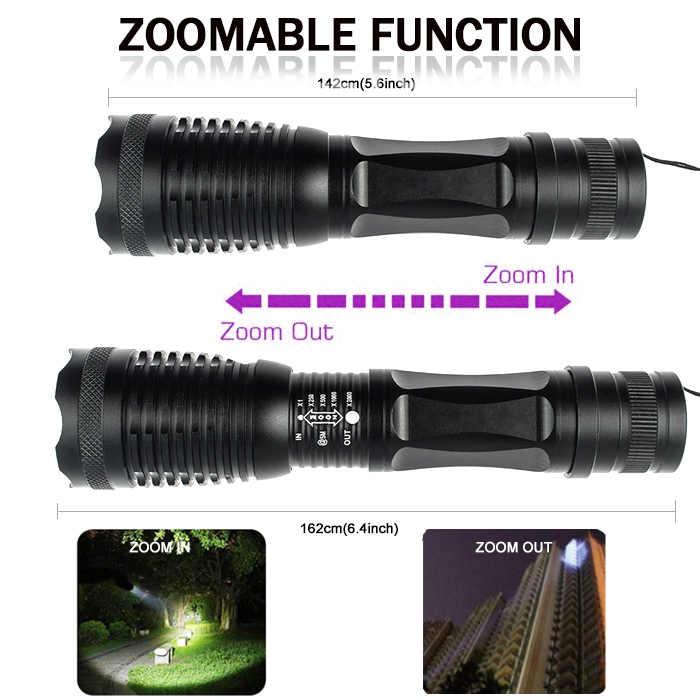 10000LM 2in1 UV פנס LED Linternas לפיד 395nm אולטרה סגול שתן גלאי עבור קמפינג שטיח לחיות מחמד שתן לתפוס עקרבים