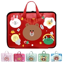 Newest cute bear pattem PU waterproof Laptop Bags 12 13 13.3 14 15 16 Inch for NoteBook cases