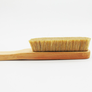 eco friendly pure natural boars hair climb chalk brush and rock climbing brush boar with wood handle 6