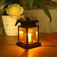 Hanging Led Light Party Wedding Garden Candle Lantern Outdoor Festival Flame Plastic Courtyard Solar