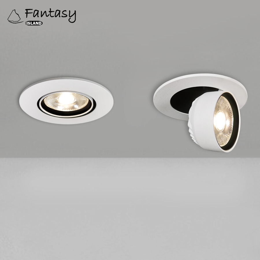 LED Rotatable recessed Foldable COB downLighting 3W AC85-265V 360 Degree Rotatabl Lights