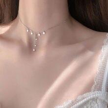 OBEAR de plata disco plateado borla collar minimalismo dulce Collar Romántico para mujer exquisita joyas regalo