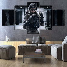 Wall Art 5 Piece Games Print Paintings Tom Clancys Rainbow Six Siege Zofia Bosak Poster Pictures Canvas for Home Decor