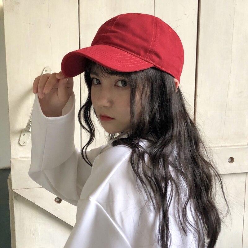 Кепка-козырек Женская однотонная, повседневная универсальная шапка от солнца в Корейском стиле, уличная бейсбольная кепка в гонконгском ст...