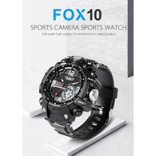 FOX10 Мини Спорт Камера часы HD видеокамера светодиодный светильник IP67 Водонепроницаемый