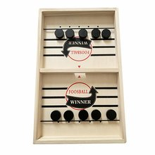 1 set Fast Slingpuck Game Board Funny Party Games Toys For Children Bumper Chess Table Ice Hockey Parent-child Interactive Game