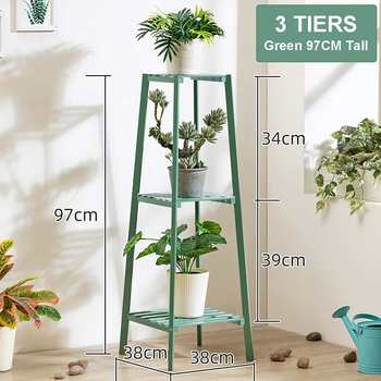 4 Layers Simplicity Wood Stand For Plants Landing Type Light Extravagant Multi-storey Shelf Indoor Flowerpot Frame Flower Stand 12