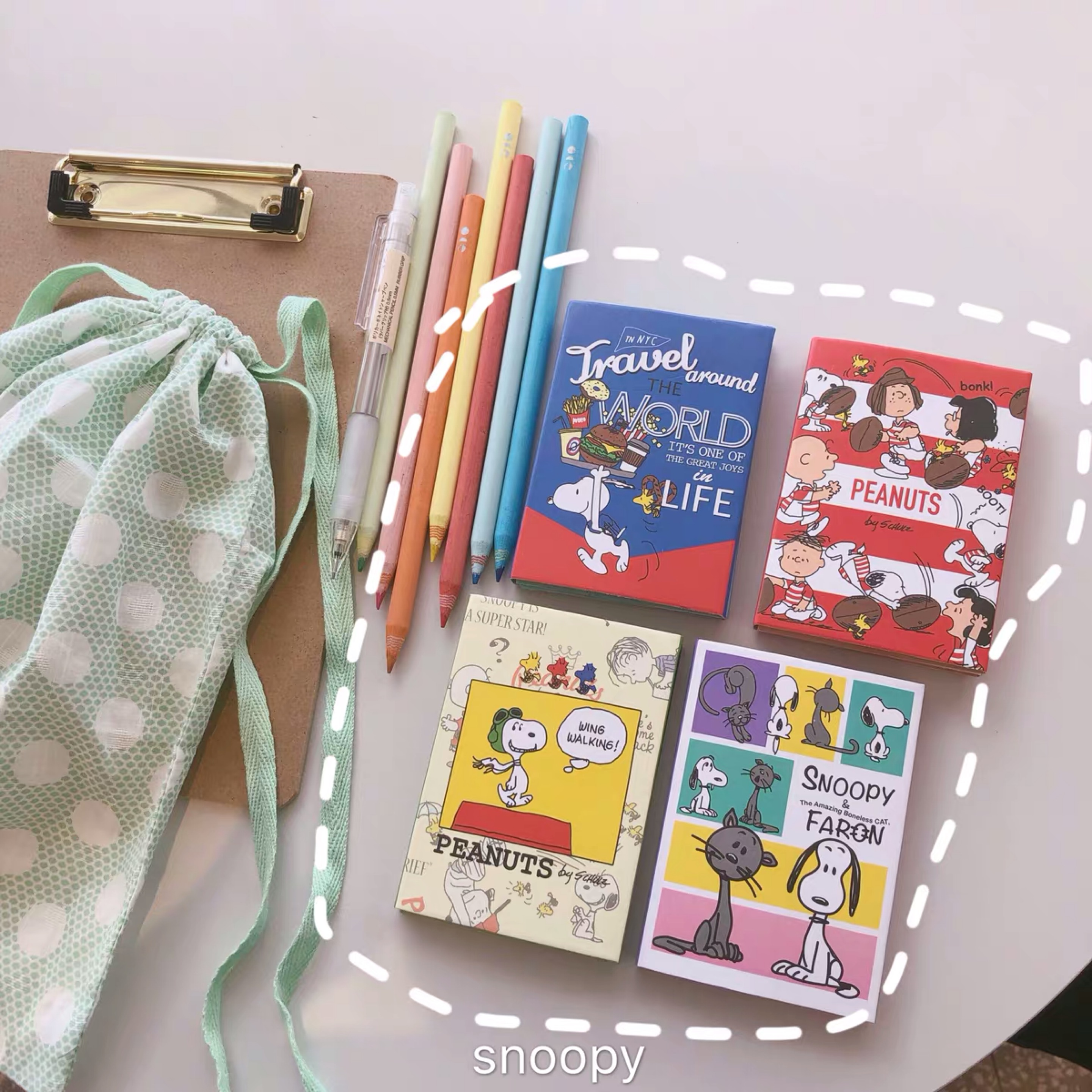 200 Pages Peanuts Rogue Dog Cartoon Memo Pad Four-fold Office N Post Note Paper Cute Sticky Notes Planner Stickers Stationery