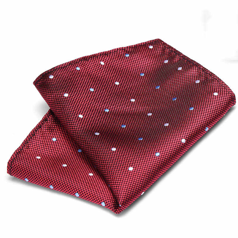 الرجال الفاخرة منديل البولكا نقطة مخطط الأزهار المطبوعة Hankies الحرير منديل الأعمال الزفاف جيب مربع الصدر منشفة 22*22 سنتيمتر
