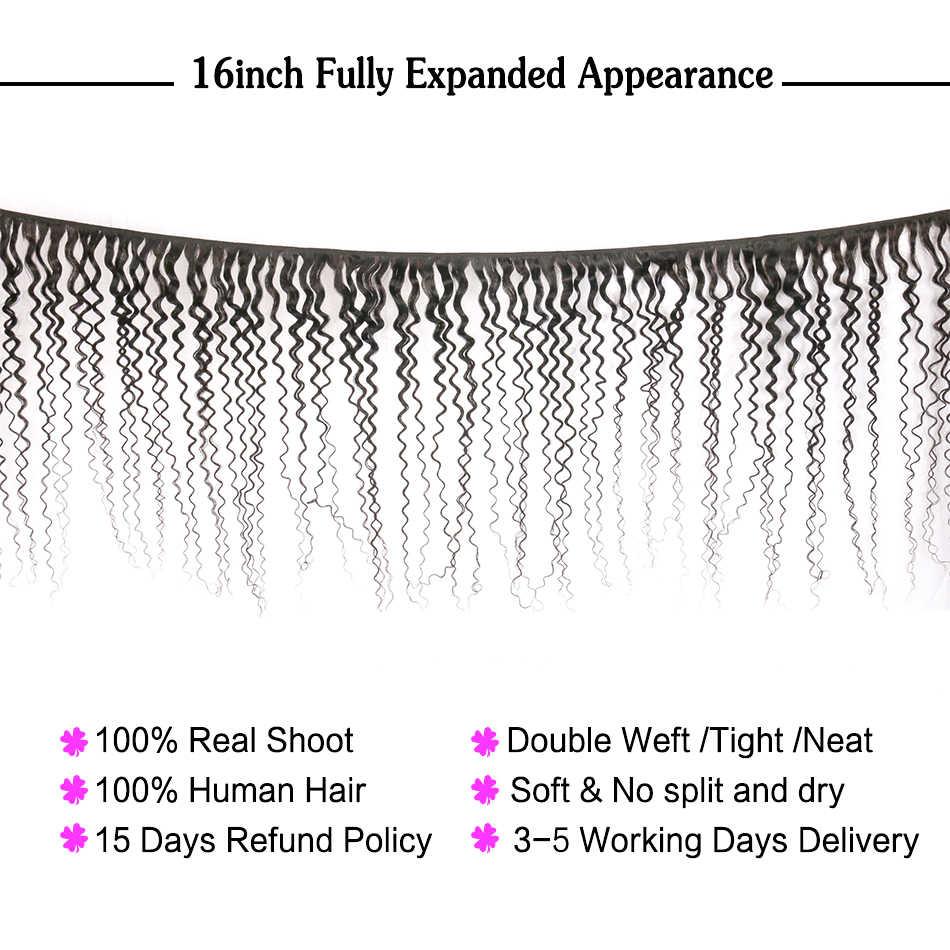 Jerry encaracolado cabelo humano brasileiro, pacotes de cabelo com onda cacheado vendedor atacado feixes não remy extensões nafun
