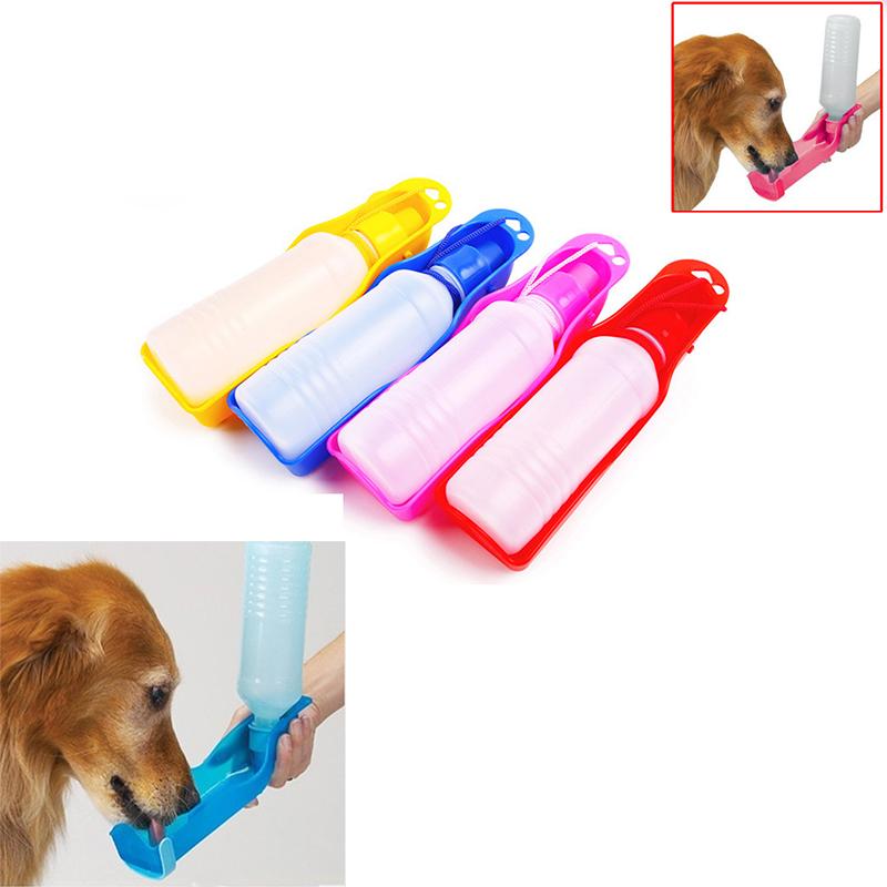 1PC Pet Dog Water Bottle 250ml Foldable Portable Drinking Bottle Travelling Outdoor Drinking Feeder Bowl