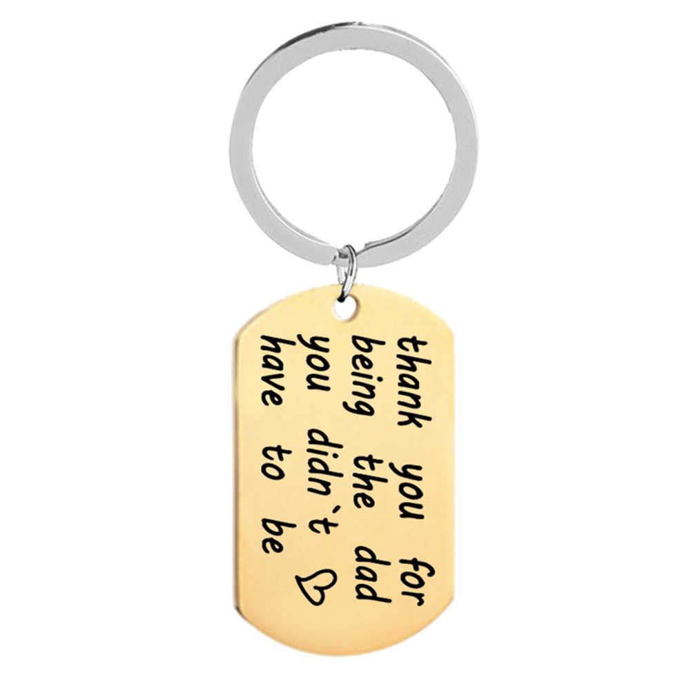 Letras de impressão pingente chaveiro porta-chaves titular ação de graças pais dia presente