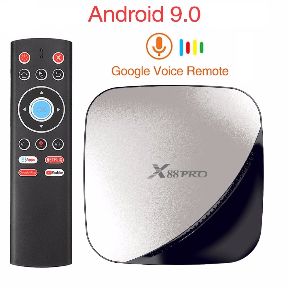 Skywoods X88 PRO Android 9.0 4GB di RAM 128GB 64GB 32GB Google Assistente Vocale RK3318 Quad core wifi 4K X88PRO 2GB 16GB TV box