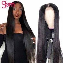 30 Inch Wig Bone Straight Human Hair Wig For Black Women long Pre Plucked 150 Density Gem Hair Brazilian Hair 4x4 Closure Wig