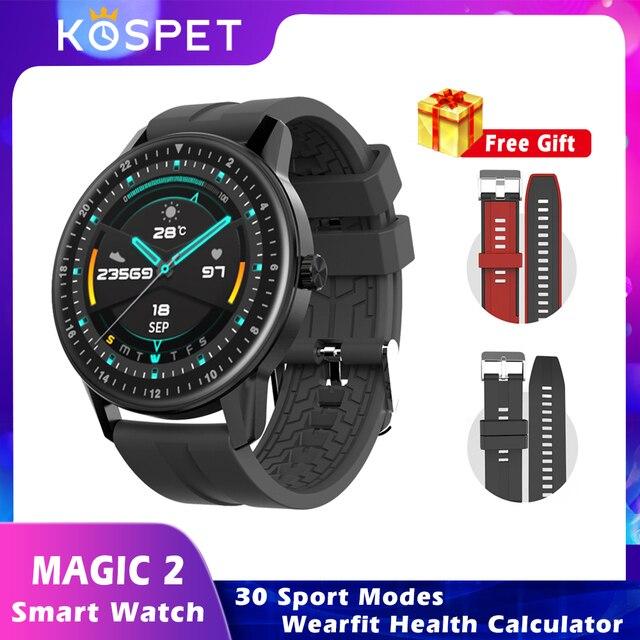 KOSPET MAGIC 2 Smartwatch étanche 30 Modes de Sport 200mAh surveillance de loxygène du sang piste de fréquence cardiaque 2020 hommes femmes montres intelligentes