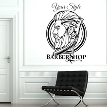 Barber Shop vinyl Wall Sticker hair salon Decoration Hairdresser Wall Decal Removable vinyl Wall Art Stickers Hipster Decor G643 barber shop logo sign wall decal haircut vinyl interior stickers hairdresser art mural hair salon emblem hair home decor syy490