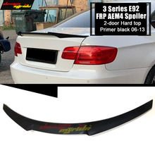 For BMW E92 Spoiler rear trunk wings M4 Style FRP Prime black M3 2 Coupe 320i 330i 328i 06-13