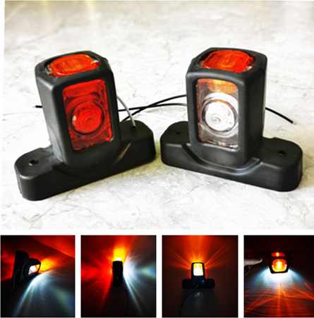 10X 12-24V LED Red//Amber Side Marker Lights Lamp Trailer Truck Lorry Caravan Van