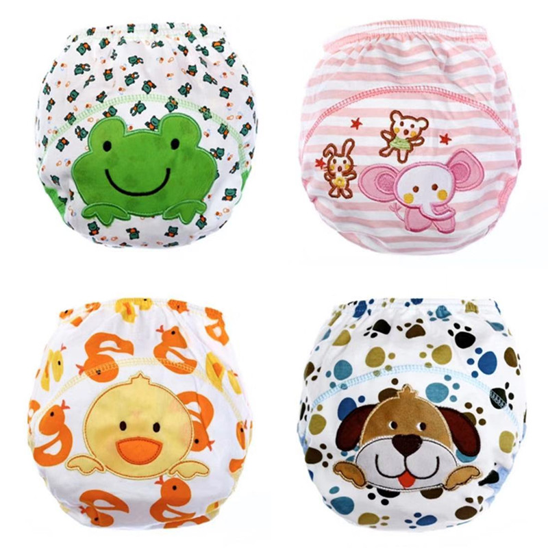 1 Piece Baby Training Pants/Baby Diaper/Washable Diapers/Cotton Learning Pants/Same Style Bibs