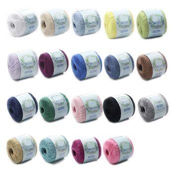 Hilo de algodón mercerizado DIY hilo de tejer a mano para bordado de encaje de ganchillo Q0KE