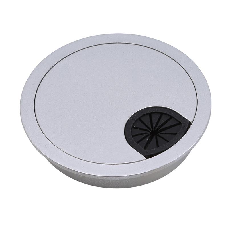 1 шт. крышки для кабельных отверстий круглая кабельная втулка для компьютерного стола крышки для кабельных отверстий мебельная фурнитура выход порт Поверхностная линия Сортировка инструментов - Цвет: 80mm