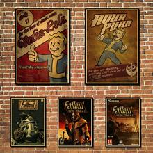 Pósteres Vintage Rock Fallout juego Anime pared decoración del hogar Retro Poster decoración de pared vintage impresiones