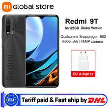 Versão global xiaomi redmi 9t 4gb 64gb/4gb 128gb/6gb 128gb smartphone snapdragon 662 6000mah 6.53 display display exibir não nfc