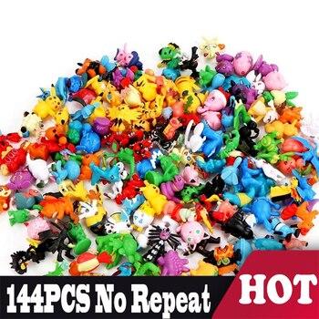 цена на Original POKEMON figures 144 different styles 24pcs/bag new dolls action figure toys for carta pokemones collectible dolls