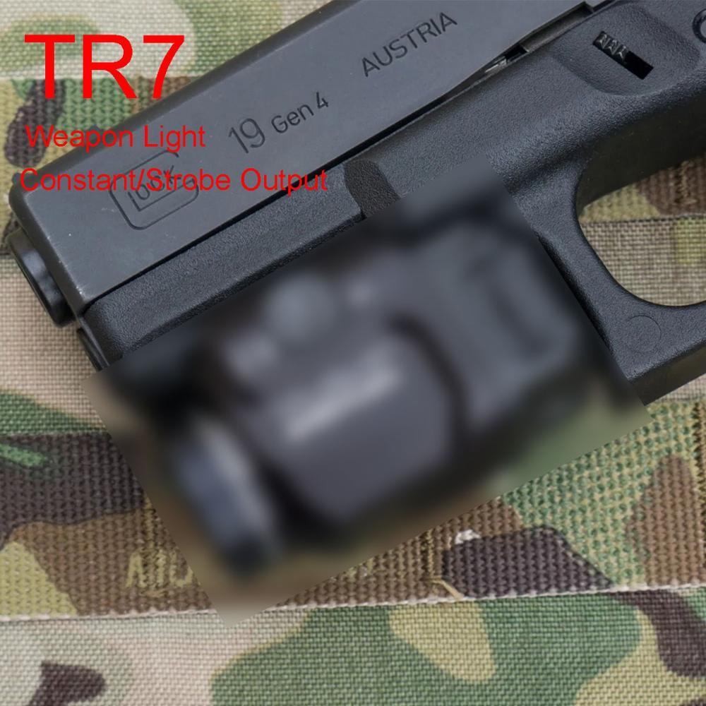 Tactical Constant & Strobe Flashlight TLR Light Fits GLOCK 1 7 Hk USP CZ SIG SAUER SP2022 Defense Pistols Torch